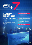 Picture shows the front cover of 24/7, the in-house magazine of Subsea 7